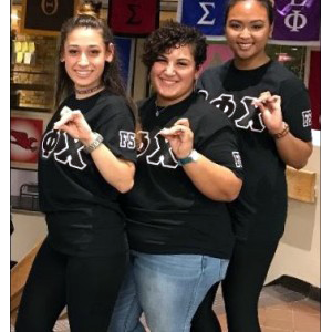 Saidie poses with two other girls from her sorority